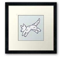 Jump Doggy Framed Print