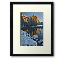 El Capitan Early Morning Light and a Winter Blanket Framed Print