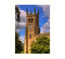 St James' Church, Wigan, Lancs, UK Art Print