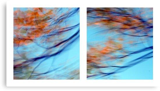 Autumn Impressions - Diptych #2 by Kitsmumma