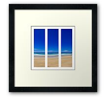 Summertime Blues - Triptych Framed Print