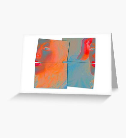 Back to Front and Inside Out Greeting Card