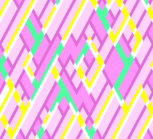 Geometric Lanes (Glam Pink/Yellow/Blue) Sticker