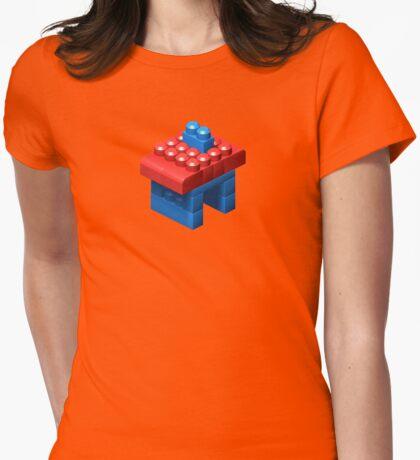 3D Little House Womens Fitted T-Shirt
