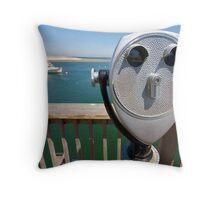 Chatham Fish Pier & Telescope Throw Pillow