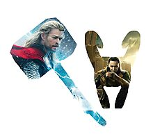 Thor and Loki Photographic Print