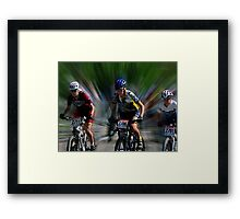 Quebec Cup Cycling Framed Print