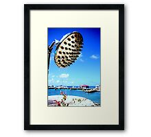 today's forecast is for blue skies and heavy showers  Framed Print