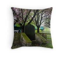 Grave of George Trotter Throw Pillow