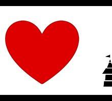 I Heart Sleeping Beauty (Classic Logo) by ShopGirl91706