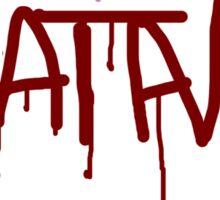 Satanic Spray Paint Sticker