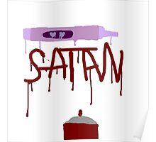 Satanic Spray Paint Poster