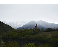 Austria Snow Caps with vine yard Photographic Print
