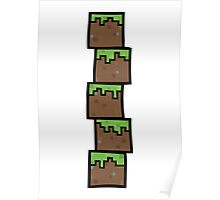 Grass Blocks Poster