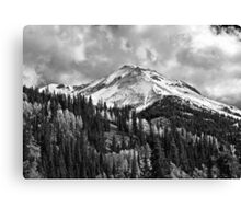 Red Mountain Snow Canvas Print