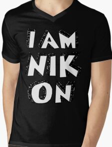 I Am Nikon Mens V-Neck T-Shirt