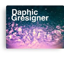 Daphic Gresigner or Graphic Designer? Canvas Print