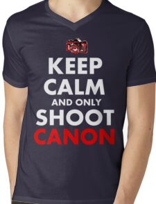 Keep Calm and Only Shoot Canon Mens V-Neck T-Shirt
