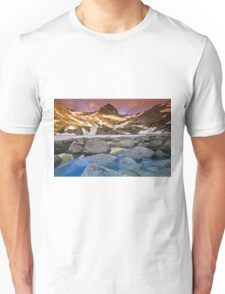 Blue Lake Sunrise Unisex T-Shirt