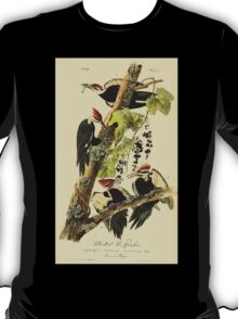James Audubon Vector Rebuild - The Birds of America - From Drawings Made in the United States and Their Territories V 1-7 1840 - Pileated Woodpecker T-Shirt