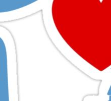 I Heart Sleeping Beauty (Inverted) Sticker