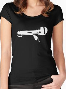 Microphone Women's Fitted Scoop T-Shirt