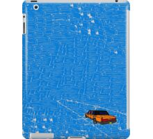 Lincoln town car driving into the sea iPad Case/Skin