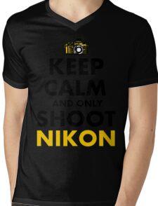 Keep Calm and Only Shoot Nikon Mens V-Neck T-Shirt