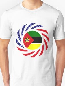 Mozambican American Multinational Patriot Flag Series Unisex T-Shirt