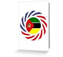 Mozambican American Multinational Patriot Flag Series Greeting Card
