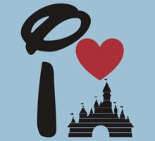I Heart Sleeping Beauty (dark) Kids Clothes
