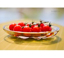 Tomatoes, Olive Oil and Balsamic Vinegar Photographic Print