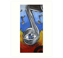 Eye Notes #2 abstract music art purple Art Print