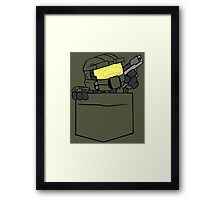 Pocket Spartan (Halo Pocket Shirt / Master Chief Pocket Shirt) Framed Print