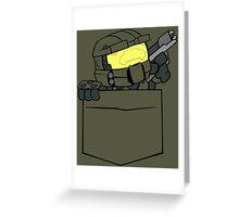 Pocket Spartan (Halo Pocket Shirt / Master Chief Pocket Shirt) Greeting Card