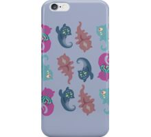 Repeating Monster Cats iPhone Case/Skin