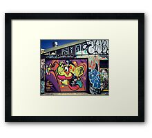 Newtown, Street Art Framed Print