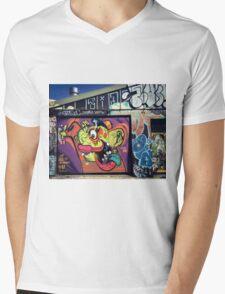Newtown, Street Art Mens V-Neck T-Shirt