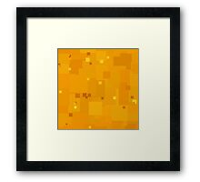 Radiant Yellow Square Pixel Color Accent Framed Print