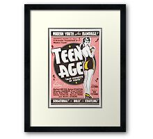Teenage Mad Moments of Youth Retro Movie Framed Print