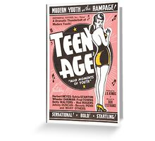 Teenage Mad Moments of Youth Retro Movie Greeting Card