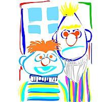 Bert & Ernie Photographic Print