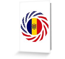 Moldovan American Multinational Patriot Flag Series Greeting Card