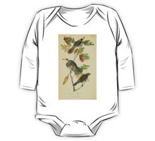 James Audubon Vector Rebuild - The Birds of America - From Drawings Made in the United States and Their Territories V 1-7 1840 - Canada Jay One Piece - Long Sleeve
