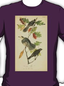 James Audubon Vector Rebuild - The Birds of America - From Drawings Made in the United States and Their Territories V 1-7 1840 - Canada Jay T-Shirt