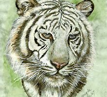 White Tiger by morgansartworld