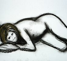 Nude9 - Charcoal and Pastel by ChristineBetts