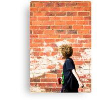 Coca Cola Boy Canvas Print