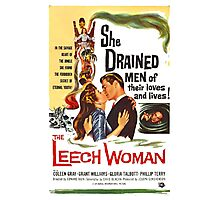 Leech Woman She Drained Men of Their Loves and Lives Photographic Print