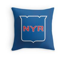 New York Rangers Minimalist Print Throw Pillow